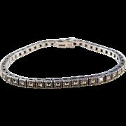 "Sterling Silver Marcasite Bracelet ~ 7 1/4"""