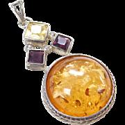 Sterling Silver Amethyst Gemstone Pendant
