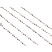 """Sterling Silver Long Beaded Chain ~ 24"""" ~ 12.5 Grams"""