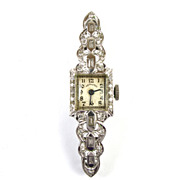 Beautiful Diamond & Platinum Ladies Hamilton Dress Watch
