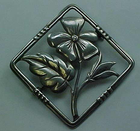 Early Danecraft / Felch & Co  Brooch Sterling Silver circa 1930's