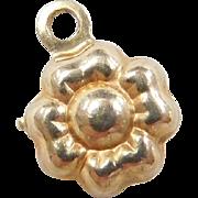 Vintage 10k Gold Flower Charm