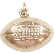 1930's 10k Gold Football Charm Undefeated ~ Personally Engraved