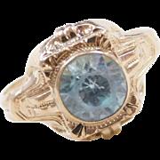 Edwardian 10k Gold Blue Spinel Ring