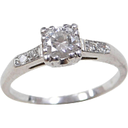 Art Deco Platinum .44 ctw Diamond Ring