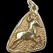 Vintage 14k Gold Aries Ram Charm