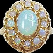 Vintage 14k Gold Opal Ring