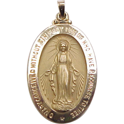 Vintage 14k Gold Virgin Mary Religious Pendant  Medallion. All Around Diamond. Rope Diamond. Rob Red Diamond. Alluvial Diamond. Rhodonite Pink Diamond. Clear Background Diamond. Ferreira Diamond. Lumiere Diamond