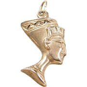 Vintage 14k Gold Egyptian Queen Nefertiti Charm