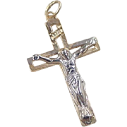 Vintage 14k Gold Two-Tone Crucifix Cross Charm