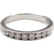 Vintage 14k White Gold .50 ctw Diamond Wedding Band Ring