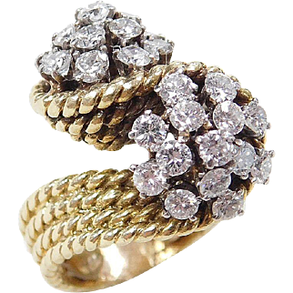 Vintage 18k Gold 2.27 ctw Diamond Ring