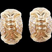 Vintage 18k Gold Diamond Earrings
