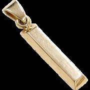 Vintage 18k Gold Bar Charm