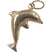Vintage 18k Gold Dolphin Charm