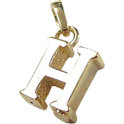 Vintage 18k Gold Letter H Charm