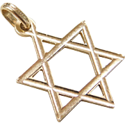 Vintage 18k Gold Star of David Charm