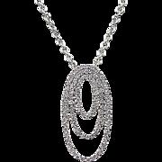 Vintage 18k White Gold .50 ctw Diamond Necklace
