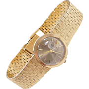 "14k Gold Tiffany & Co Rolex Ladies Wrist Watch 6 1/2"" - 6 3/4"" ~ 1950's"