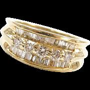 Vintage 14k Gold 1.00 ctw Diamond Band Ring