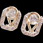 Vintage 1.25 ctw Diamond Earrings