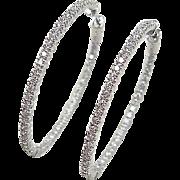 Inside Out 1.60 ctw Diamond Hoop Earrings