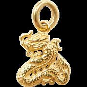 Vintage 22k Gold Dragon Charm