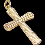Vintage 22k Gold Cross Pendant