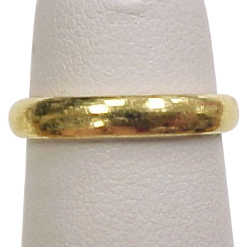 Vintage 24k gold wedding band ring pinky ring from for 24k gold wedding ring