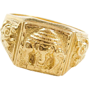 Vintage 24k Fine Baht Gold Ganesha / Ganesh Ring