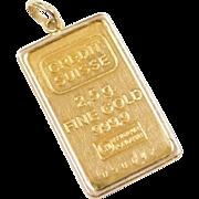 Credit Suisse 2.5 Grams Fine Gold Bar Charm
