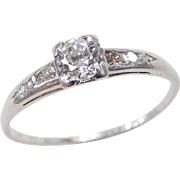 Art Deco Platinum .46 ctw Diamond Ring