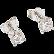 .63 ctw Diamond Stud Earrings 14k White Gold