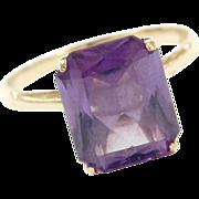 Vintage 14k Gold 4.35 Carat Alexandrite Ring