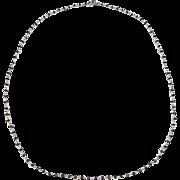 "Vintage 14k White Gold 6 ctw Black Diamond Necklace ~ 17 3/4"""