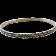 "1960's Sterling Silver Bangle Bracelet  ~ 7.85"" Circumference"
