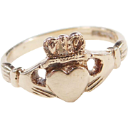 Vintage 9k Gold Claddagh Ring