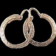 European 9k Gold Hoop Earrings