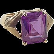 Vintage 10k Gold 6.25 Carat Color Changing Sapphire Ring