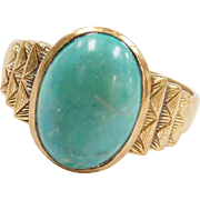 Art Deco 14k Gold Amazonite Ring
