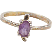 Sterling Silver Amethyst Turtle Ring