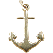 Vintage 14k Gold Anchor Charm