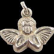 Vintage 14k Gold Angel / Cherub Charm