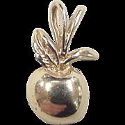 Vintage 14k Gold Apple Charm