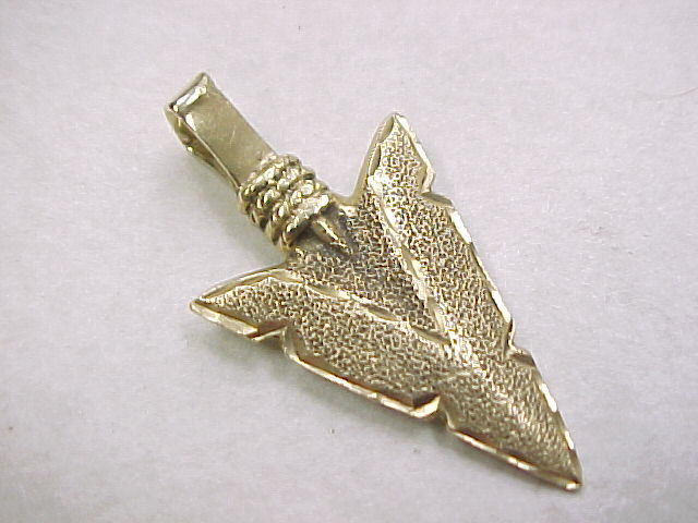 Vintage 14k gold arrowhead charm pendant from arnoldjewelers on roll over large image to magnify click large image to zoom aloadofball Image collections