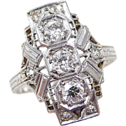 Art Deco Platinum .34 ctw Diamond Ring