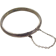 Vintage Sterling Silver Baby Bangle Bracelet
