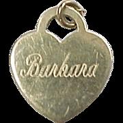 Vintage 14k Gold Barbara Heart Charm
