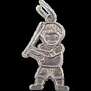 Vintage Sterling Silver Baseball Boy Charm