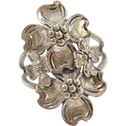Sterling Silver BEAU Flower Ring